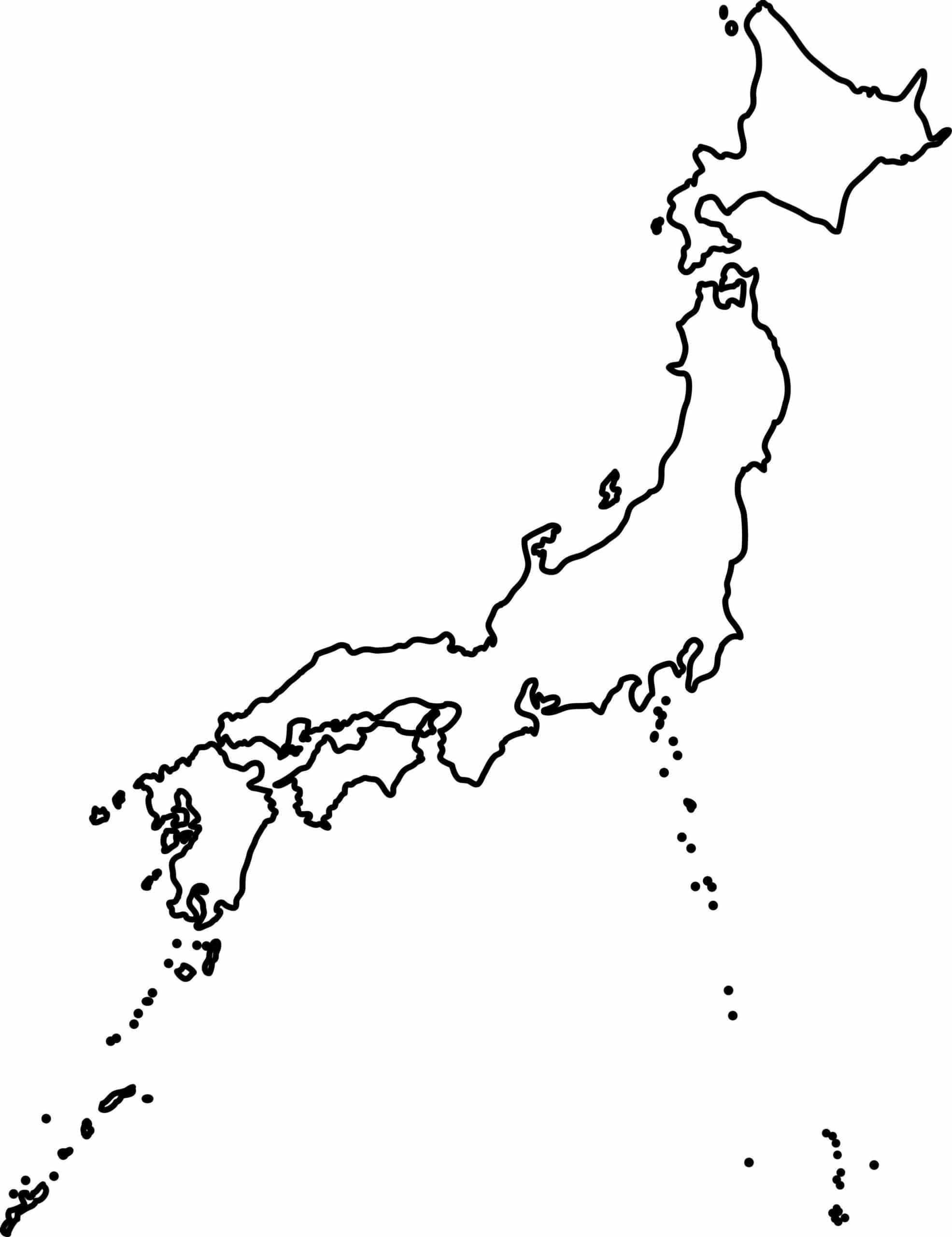 Outline map of Japan