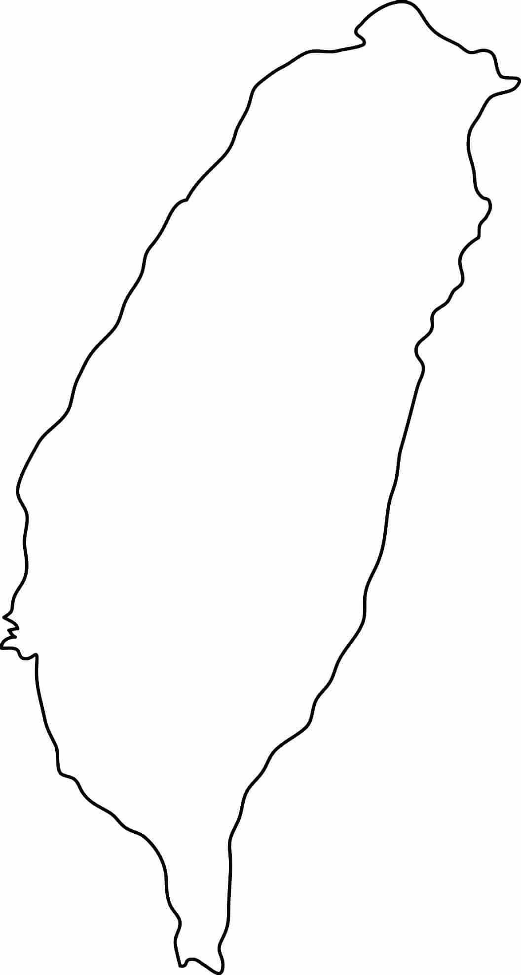 Outline map of Taiwan