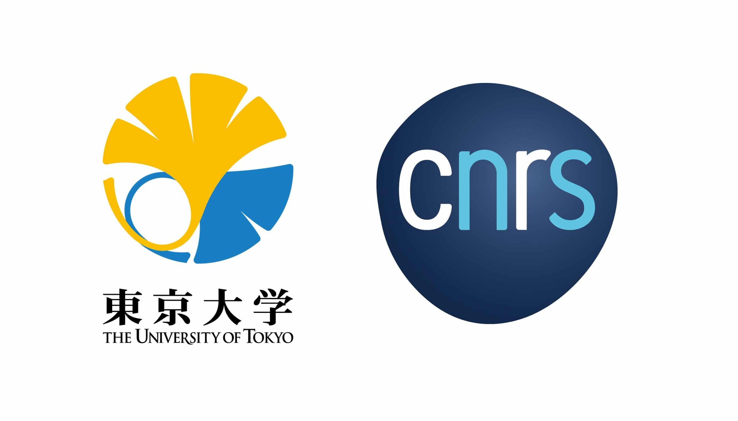 Logos of the University of Tokyo and CNRS for their Joint PhD program